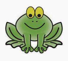 Green Cartoon frog Baby Tee