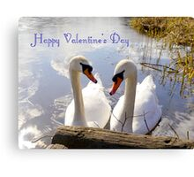 Happy Valentines Day Canvas Print