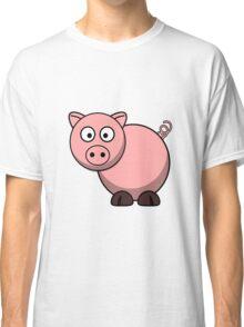Pink Cartoon Piggie Classic T-Shirt