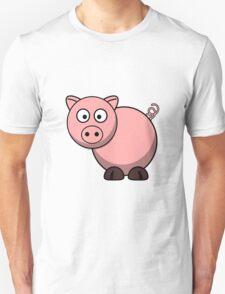 Pink Cartoon Piggie T-Shirt