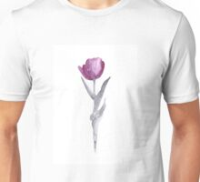 Abstract tulip flower watercolor painting Unisex T-Shirt