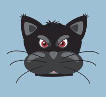 Cartoon angry kitty Baby Tee