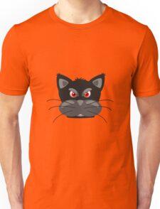 Cartoon angry kitty Unisex T-Shirt