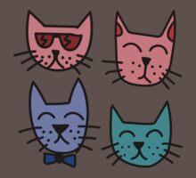 Cool Cartoon Cats One Piece - Short Sleeve