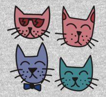 Cool Cartoon Cats One Piece - Long Sleeve