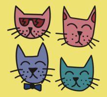 Cool Cartoon Cats Kids Tee