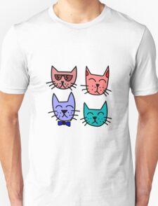 Cool Cartoon Cats Unisex T-Shirt