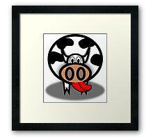 Cartoon Cow Framed Print
