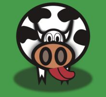 Cartoon Cow Kids Tee