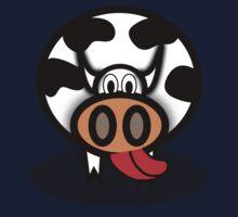 Cartoon Cow Baby Tee