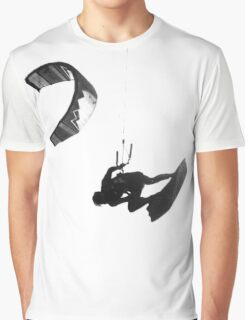 Suspended! - Kite Surfer in the Sky Graphic T-Shirt