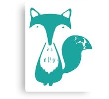 Monsieur Fox- Teal Canvas Print