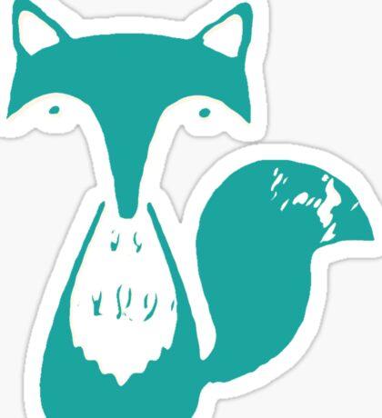 Monsieur Fox- Teal Sticker