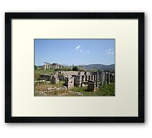 The Courtyard Of The Bishops Palace Aphrodisias Turkey Framed Print