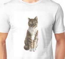 Brown cat watercolor art print painting Unisex T-Shirt