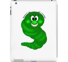 Green Cartoon caterpillar  iPad Case/Skin