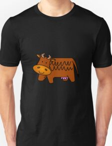 Cartoon Brown Cow Unisex T-Shirt