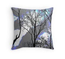 Sillhouette Trees zooty Throw Pillow