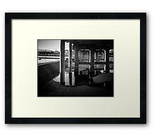Under the bridge - skateboarding Framed Print