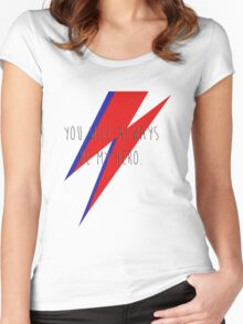 DAVID BOWIE HERO Women's Fitted Scoop T-Shirt