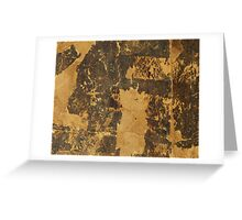 Old vintage paper texture background with dark stains Greeting Card