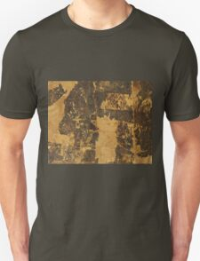Old vintage paper texture background with dark stains T-Shirt