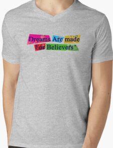 Believe Mens V-Neck T-Shirt