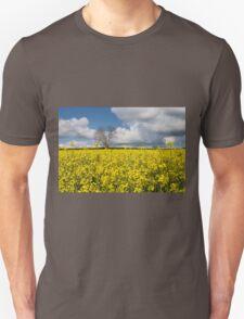 A Field of Oilseed Rape in Summer Unisex T-Shirt