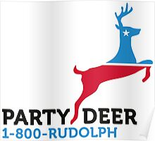 Political Party Animals: Reindeer Poster