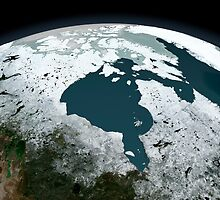 Hudson Bay sea ice on November 14, 2005. by StocktrekImages