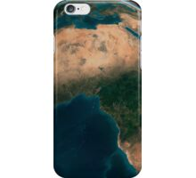 Full Earth from space above the African continent.  iPhone Case/Skin