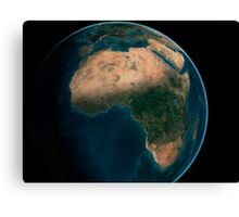 Full Earth from space above the African continent.  Canvas Print