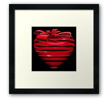 3D Ribbon Heart Framed Print