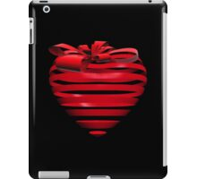 3D Ribbon Heart iPad Case/Skin