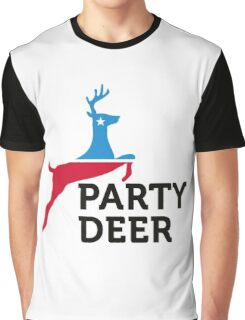 Political Party Animals: Reindeer Graphic T-Shirt
