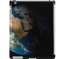Full Earth showing simulated clouds over Africa. iPad Case/Skin