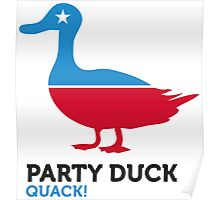 Political Party Animals: Duck Poster
