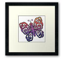 Cartoon Pretty Butterfly Framed Print