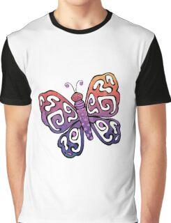 Cartoon Pretty Butterfly Graphic T-Shirt
