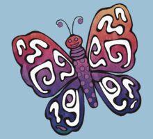 Cartoon Pretty Butterfly Kids Tee
