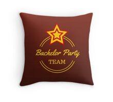 Bachelor Party Team Throw Pillow