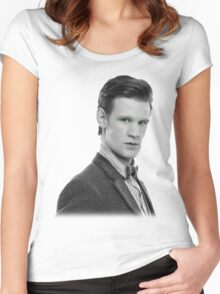 Matt Smith, Dr. Who Women's Fitted Scoop T-Shirt
