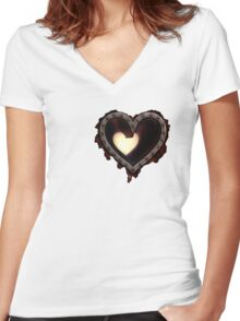 Heartless Women's Fitted V-Neck T-Shirt