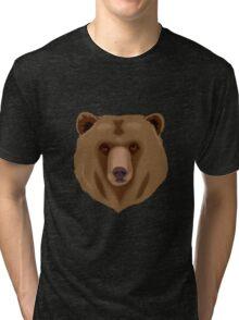 Water colour Bear Tri-blend T-Shirt