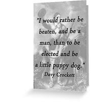Little Puppy Dog - Davy Crockett Greeting Card