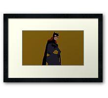 Batgirl Minimalism Framed Print