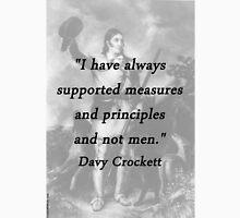 Measures and Principles - Davy Crockett Unisex T-Shirt