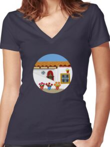 Patio Women's Fitted V-Neck T-Shirt