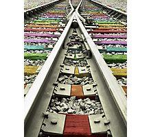 Rainbow Train Track  Photographic Print