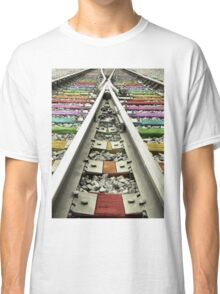 Rainbow Train Track  Classic T-Shirt